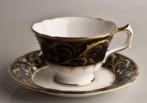 Darley Abbey Black and Gold Tea Saucer