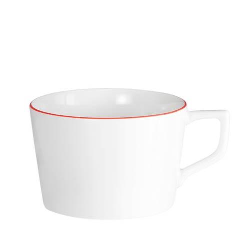 Red Rim Cappucino Cup