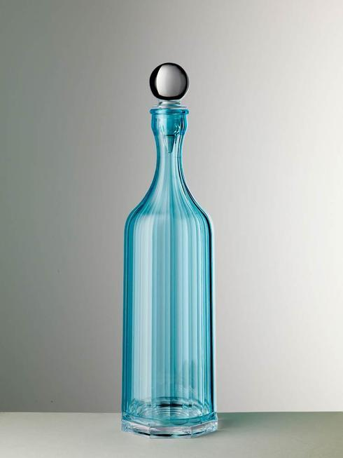 Turquoise Decanter With Sealed Stopper