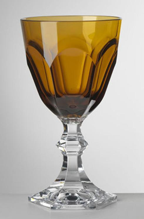 Amber Water Goblet