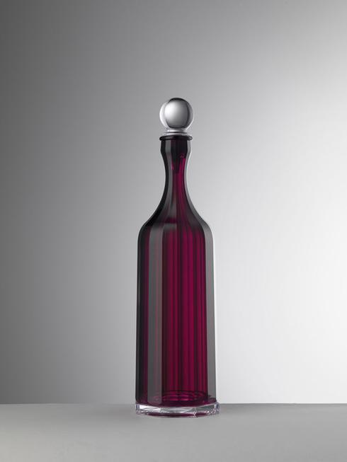 Ruby Decanter With Sealed Stopper