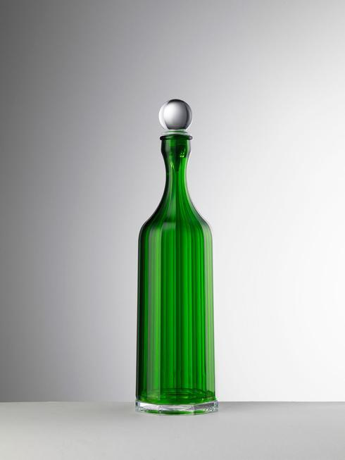 Green Decanter With Sealed Stopper