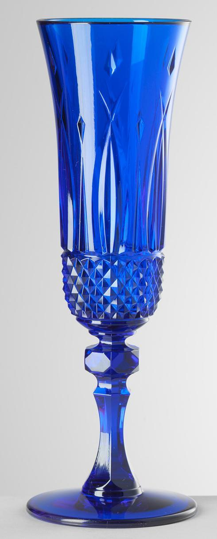Blue Champagne Flute