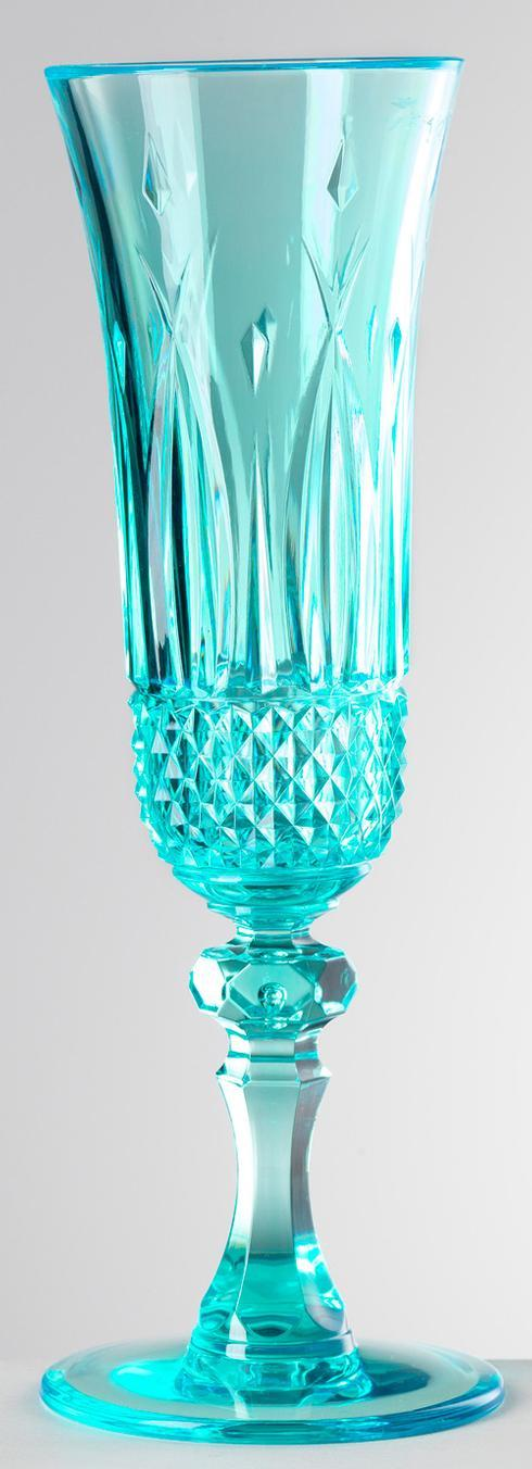 Turquoise Champagne Flute