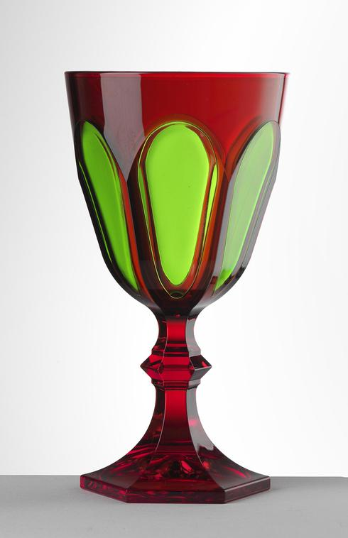 Red/Green Water Goblet