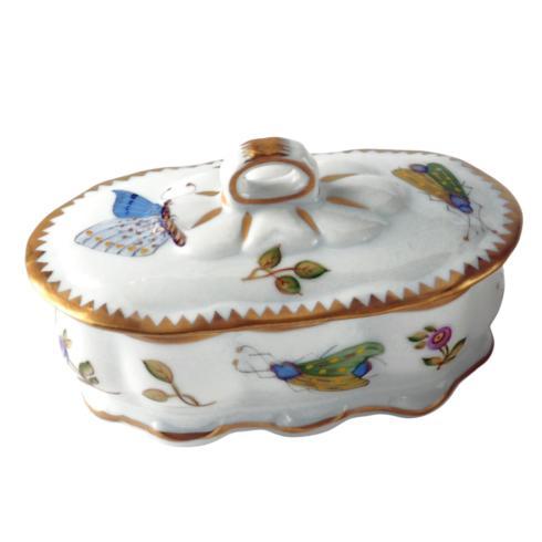 Small Oval Ruffled Trinket Box