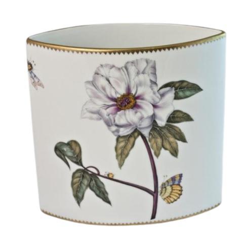 White Tulip Oval Vase