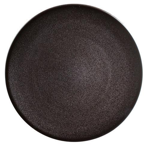 Spangled Black Dessert Plate