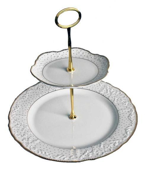 2 Plate Tiered Cake Stand