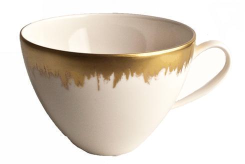 Opal Tea/Breakfast Cup with Gold Brushstroke