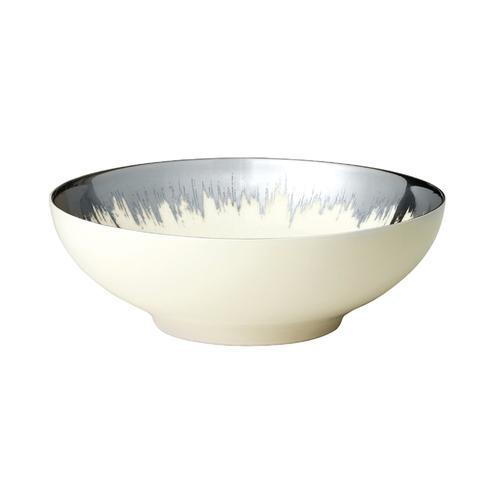 Opal Cereal Bowl with Platinum Brushstroke