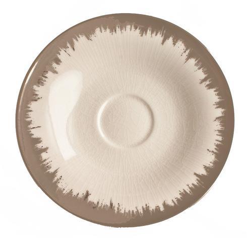 Opal Tea/Breakfast Saucer with Platinum Brushstroke