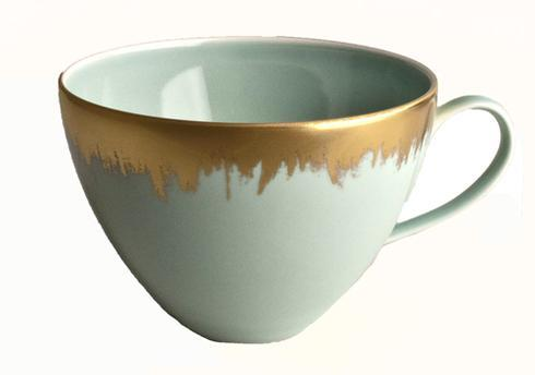 Sea Glass Tea/Breakfast Cup with Gold Brushstroke
