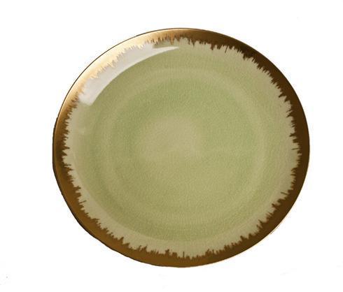 Spearmint Dinner with Gold Brushstroke