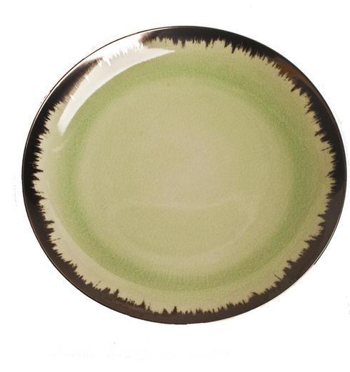Spearmint Dinner with Platinum Brushstroke