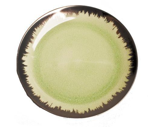Spearmint Dessert with Platinum Brushstroke