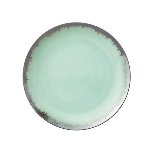 Sea Glass Dinner with Platinum Brushstroke