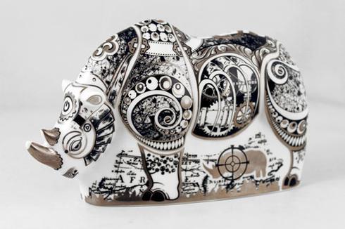 Steam Punk Rhino Paperweight