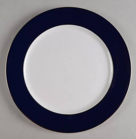 Cobalt Band Service Plate With Platinum Edge