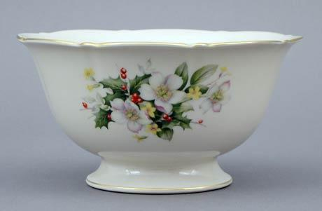 Christmas Rose Large Fluted Bowl