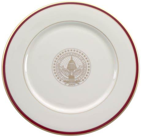 President Barack Obama Commemorative Charger Plate for 2009 Inauguration