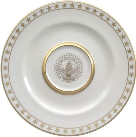 President Barack Obama Commemorative Gift Plate for 2009 Inauguration with Star Border
