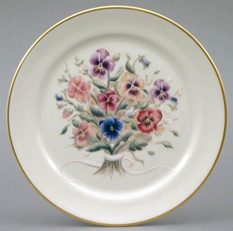 Pansy Bouquet Plate