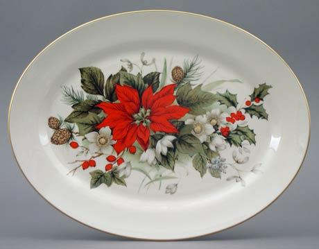 Poinsettia Large Platter