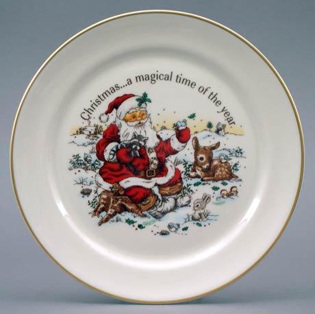 Santa & Animals Plate