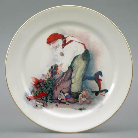 Santa Packing Toy Bag Plate