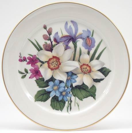 White Flower Plate