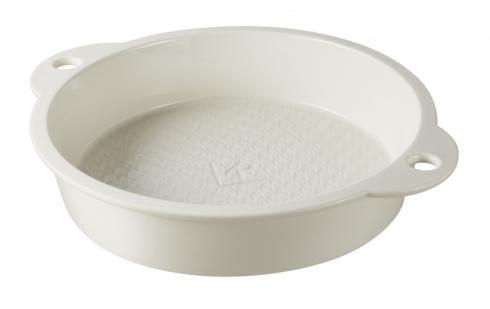 Round Cake Pan Giftboxed Creamy White