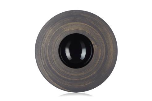 $140.00 Sphere Plate - Glossy Black Copper Crescendo