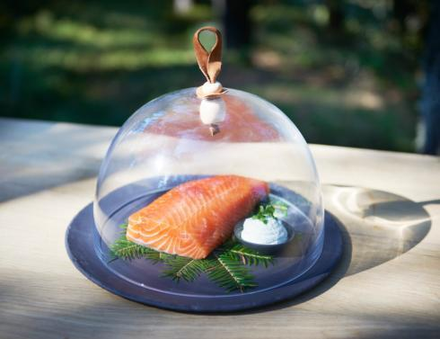 """$110.00 Glass Dome 10.75"""" and Round Plate"""