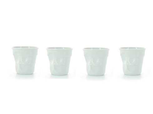 Set of 4 Espresso Crumpled Tumblers
