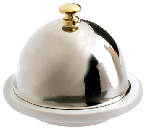 $40.00 Butter Dish + Stainless Steel Lid