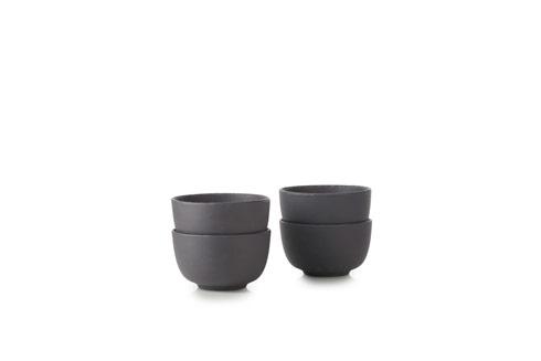 Set of 4 Serving Bowl Matte Slate Style