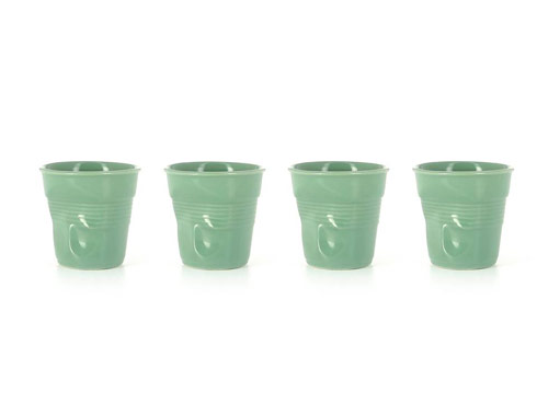 Set of 4 Cappuccino Crumpled Tumblers