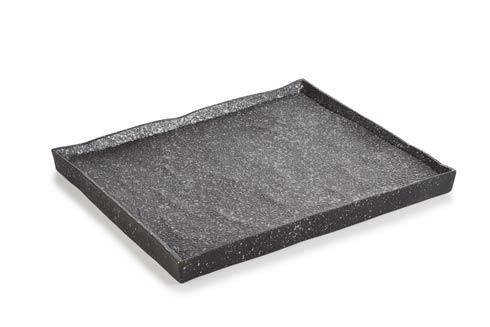 $60.00 Rectangular Plate - Cosmos Platinium