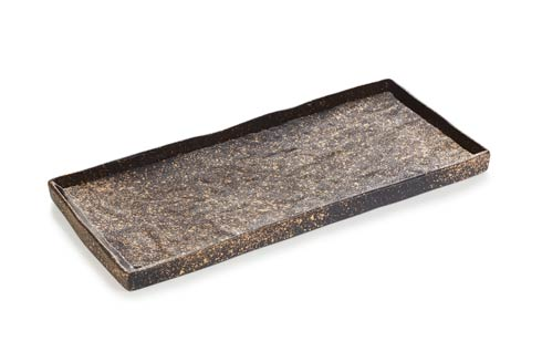 $60.00 Rectangular Plate - Cosmos Gold
