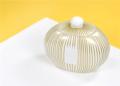 59.99 Gold stripe big Cookie jar