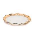 """Annieglass Ruffle 11"""" dinner plate"""