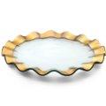 """Annieglass  Ruffle 13"""" buffet plate"""