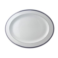 Bernardaud Athena Navy Oval Platter 13