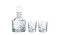 $180.00 Sculpture Decanter & Whiskey Glass Set/2
