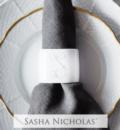 Sasha Nicholas Custom Pieces Shoemaker Script Napkin Rings