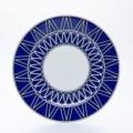 Royal Limoges Recamier - Blue Star Dinner plate 10.75