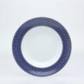 Royal Limoges Recamier - Blue Star Rim soup plate