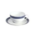 Royal Limoges Recamier - Blue Star Tea saucer