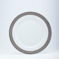 Royal Limoges Recamier - Danielle platinum presentation plate (1/2 rim matte platinum)